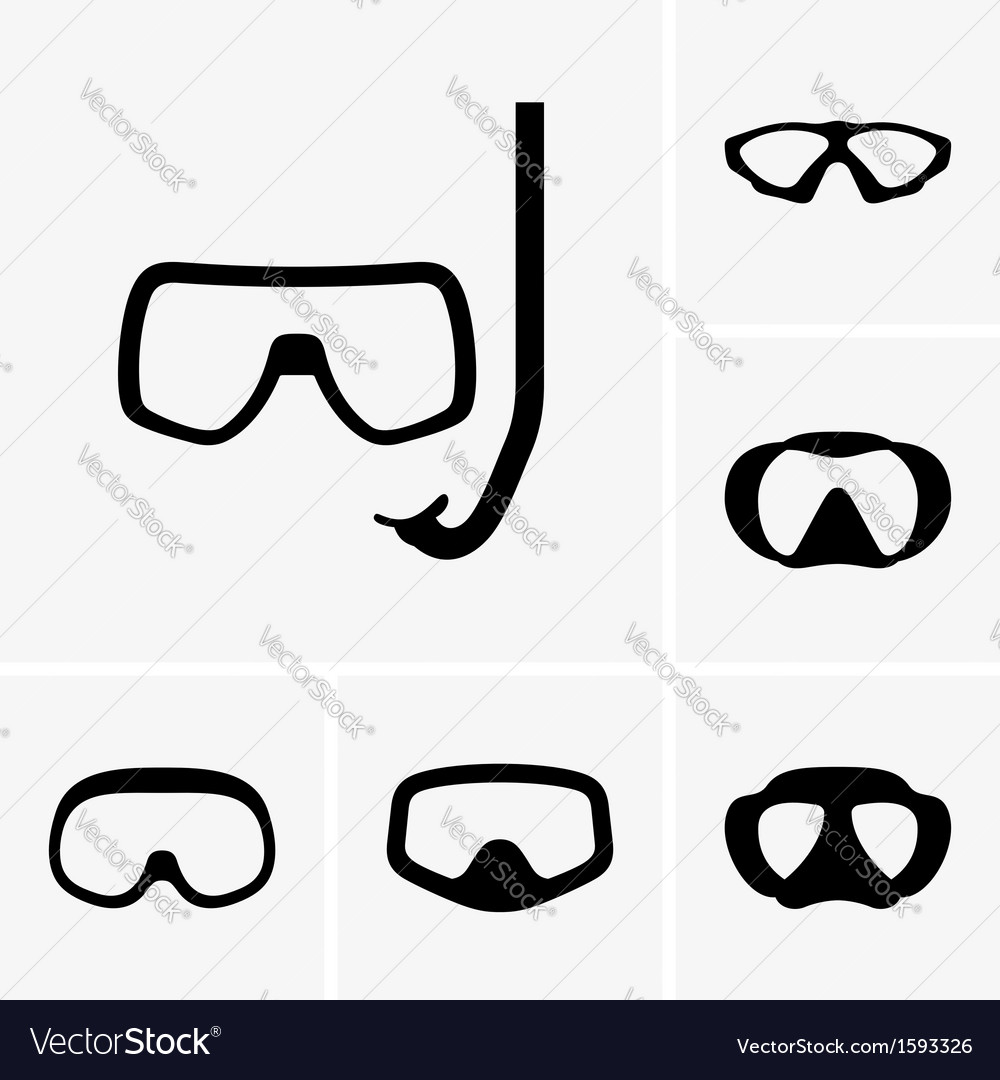 Scuba masks vector | Price: 1 Credit (USD $1)