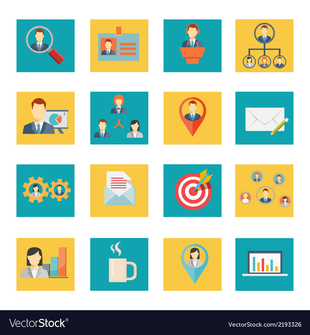 Set of office and business icons vector | Price: 1 Credit (USD $1)