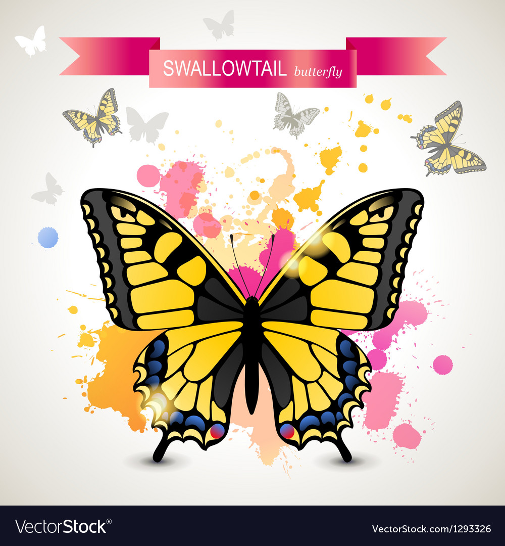 Swallowtail butterfly vector | Price: 1 Credit (USD $1)