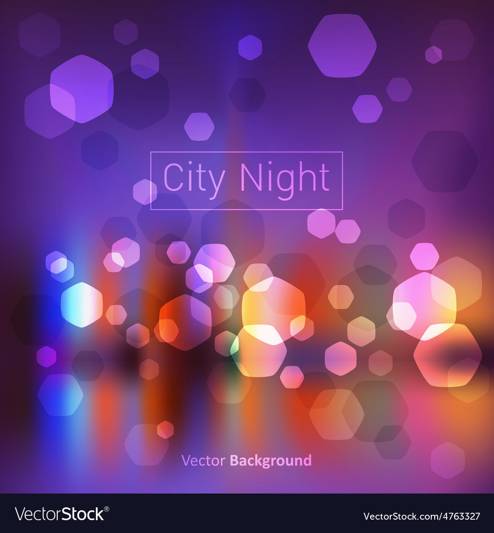City night lights vector | Price: 1 Credit (USD $1)