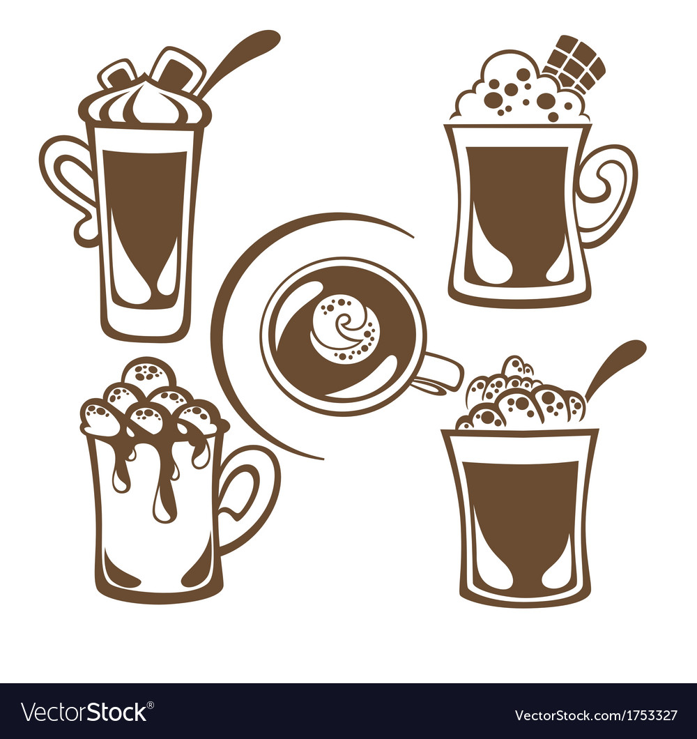 Hot drinks vector | Price: 1 Credit (USD $1)