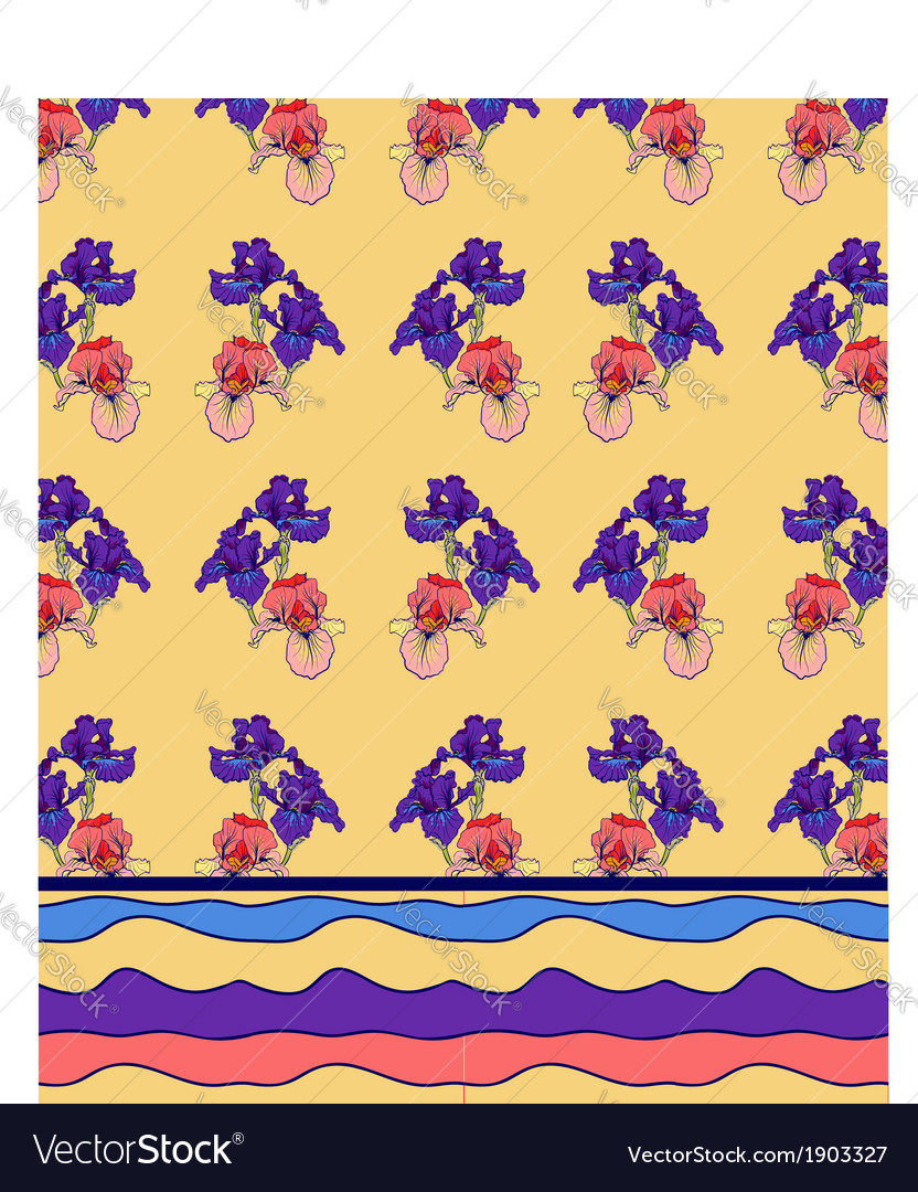 Iris pattern background vector | Price: 1 Credit (USD $1)