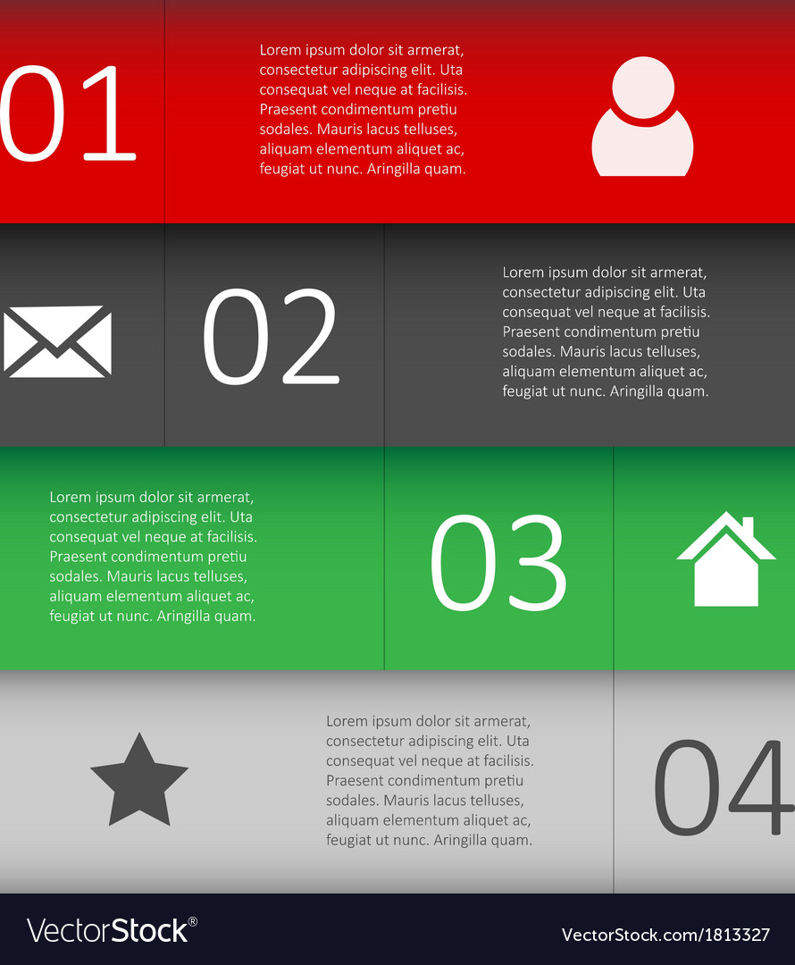 Modern design template for infographic website vector | Price: 1 Credit (USD $1)