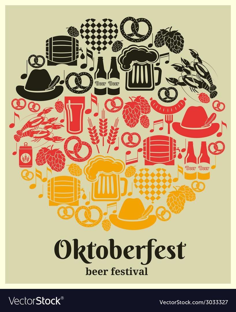 Oktoberfest beer festival label vector   Price: 1 Credit (USD $1)