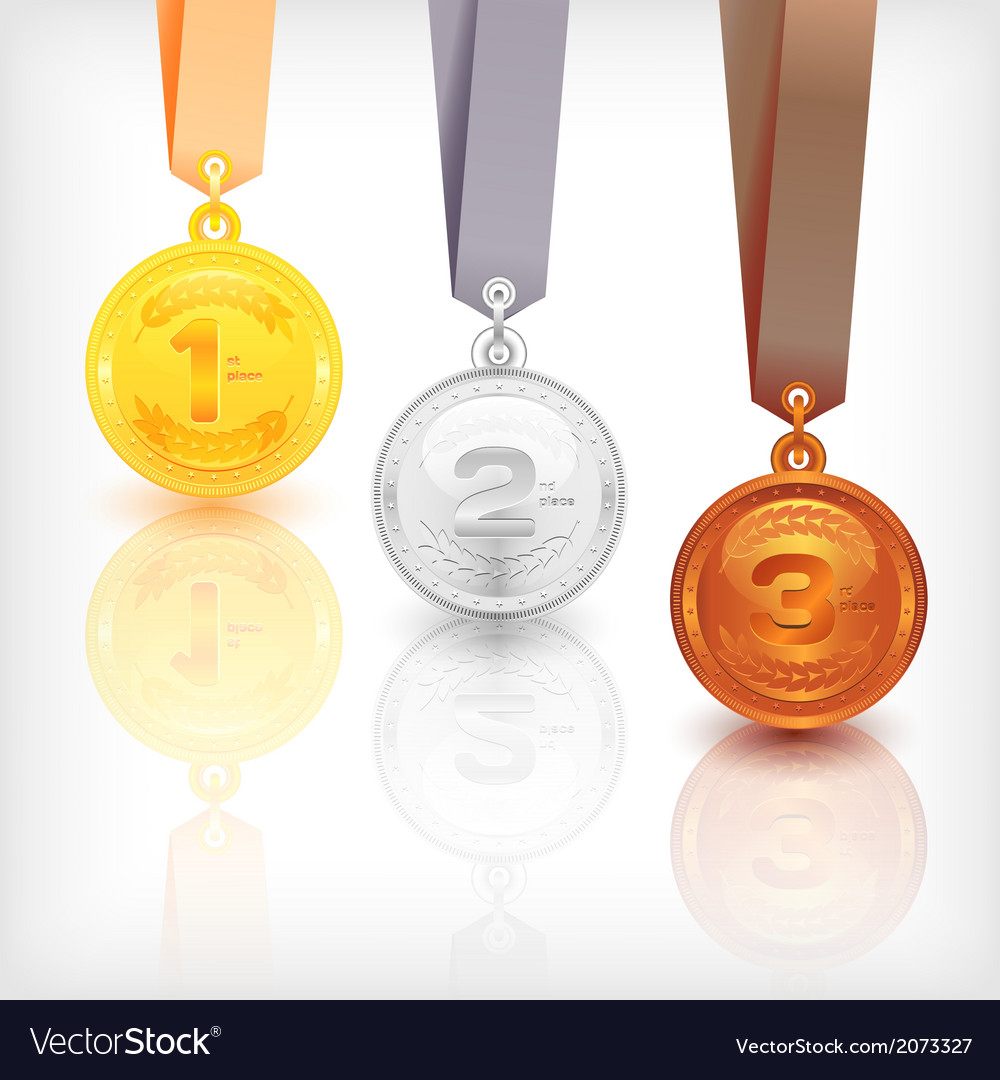 Sports medal awards vector | Price: 1 Credit (USD $1)