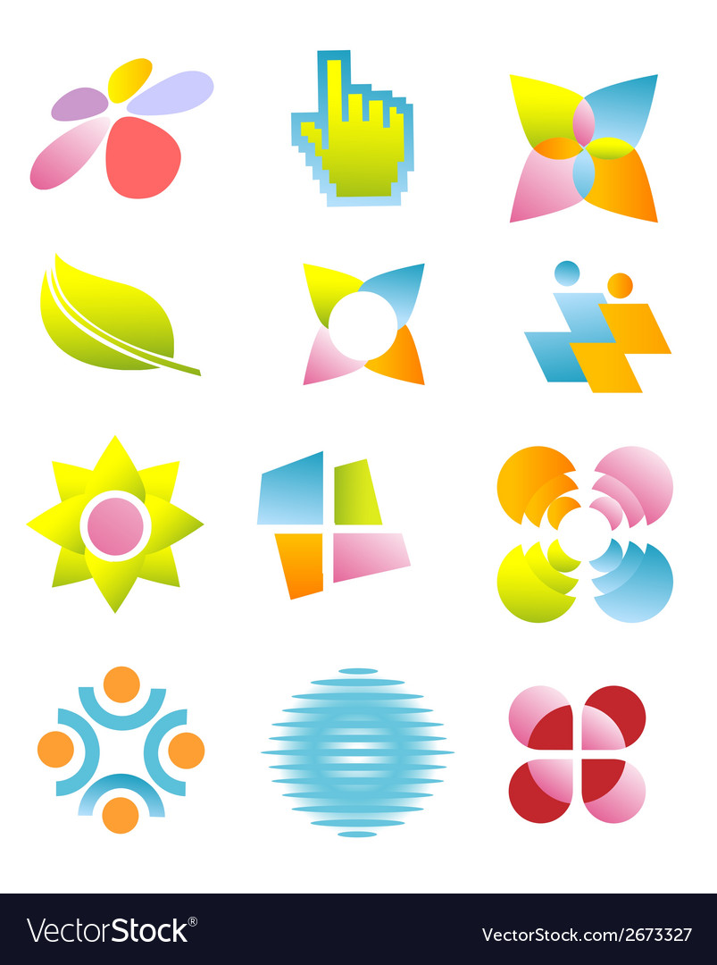 Symbols logos icons vector | Price: 1 Credit (USD $1)