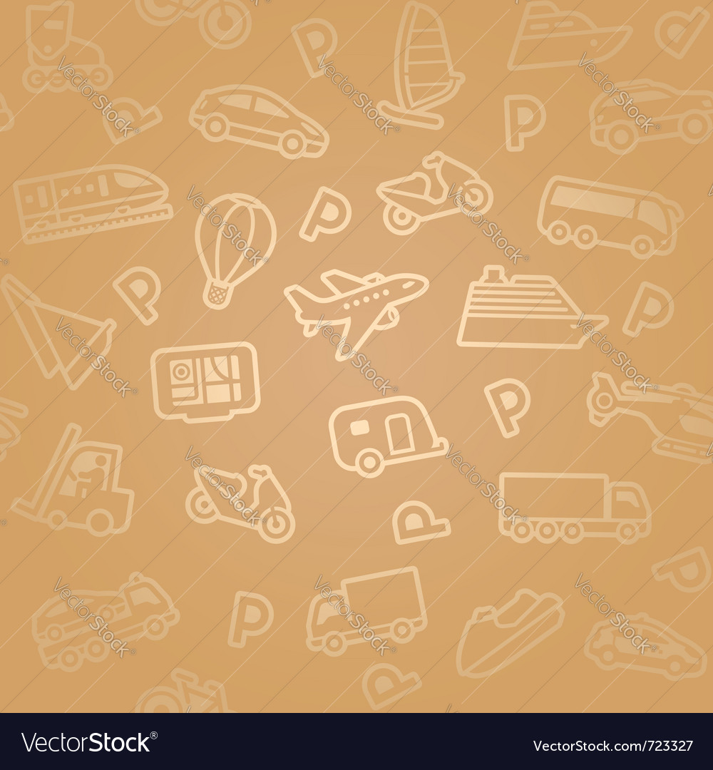 Transport icon pattern vector | Price: 1 Credit (USD $1)