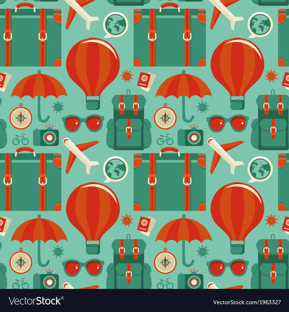 Travel pattern vector | Price: 1 Credit (USD $1)