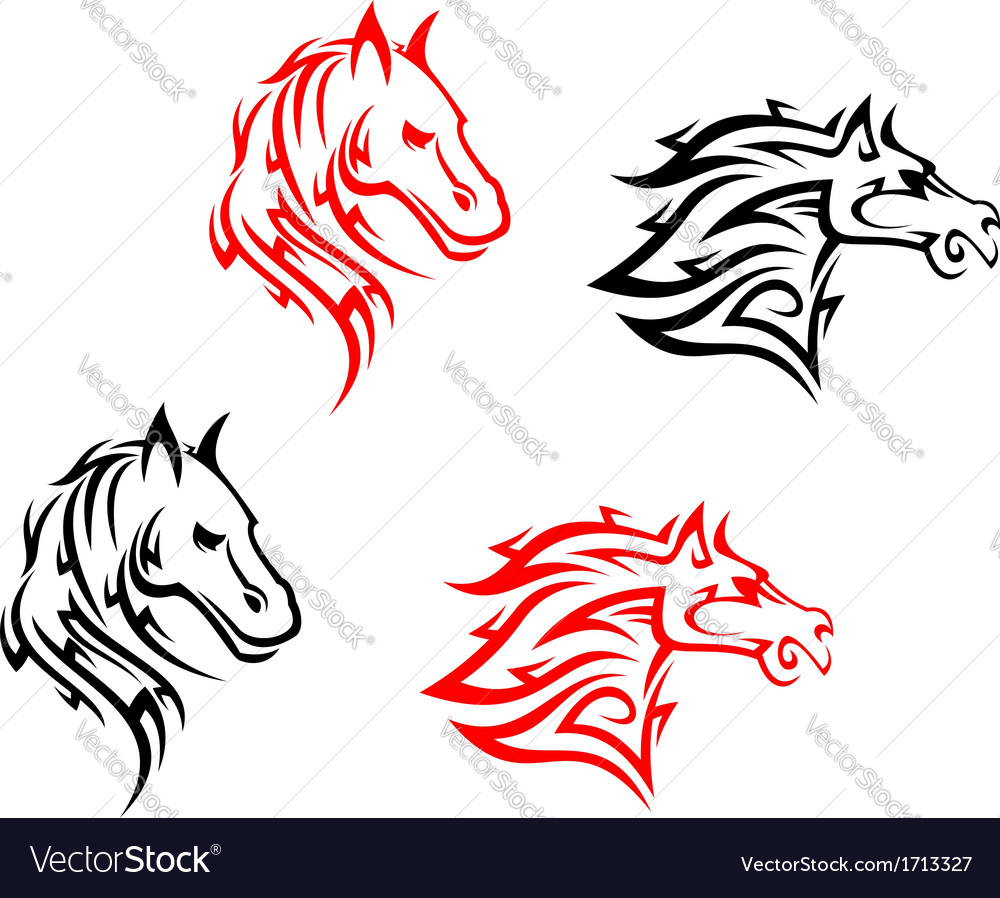 Tribal horses vector | Price: 1 Credit (USD $1)