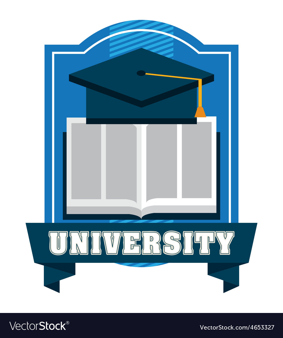 University emblem vector | Price: 1 Credit (USD $1)