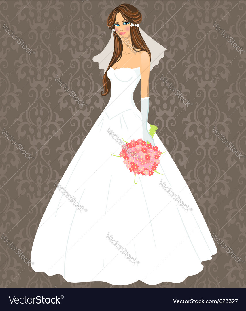 Wedding dress vector | Price: 3 Credit (USD $3)