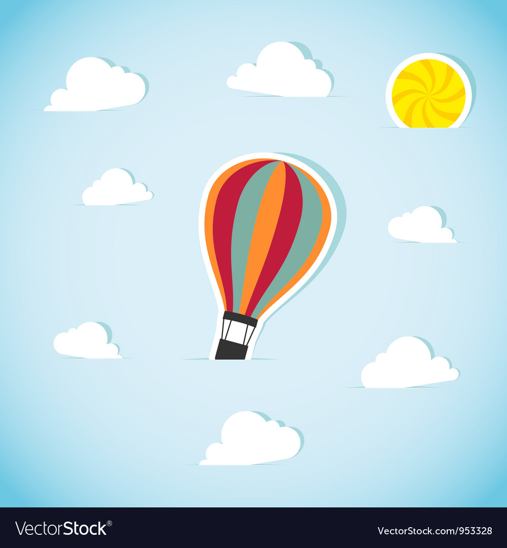 Abstract paper air balloon vector | Price: 1 Credit (USD $1)