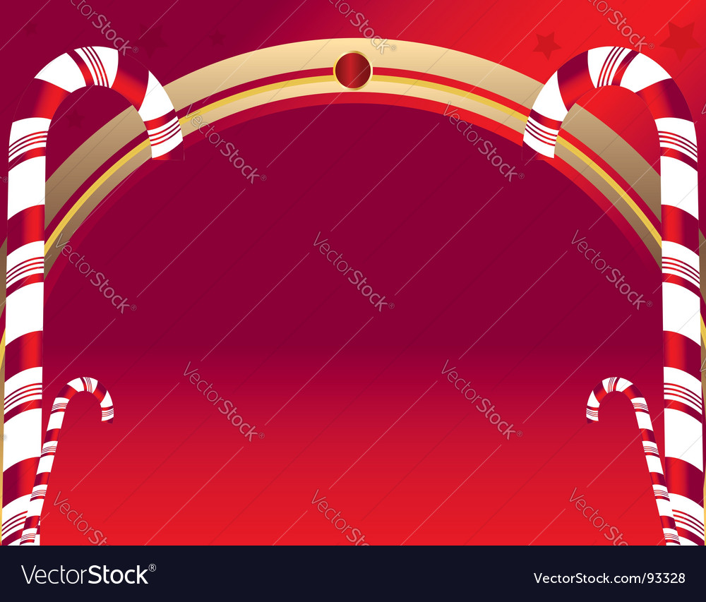 Candy cane background vector | Price: 1 Credit (USD $1)