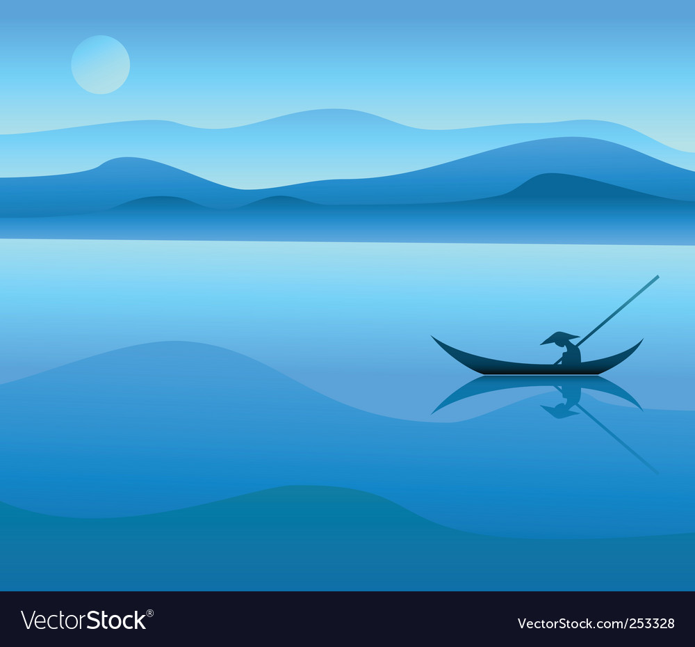 Chinese landscape vector | Price: 1 Credit (USD $1)