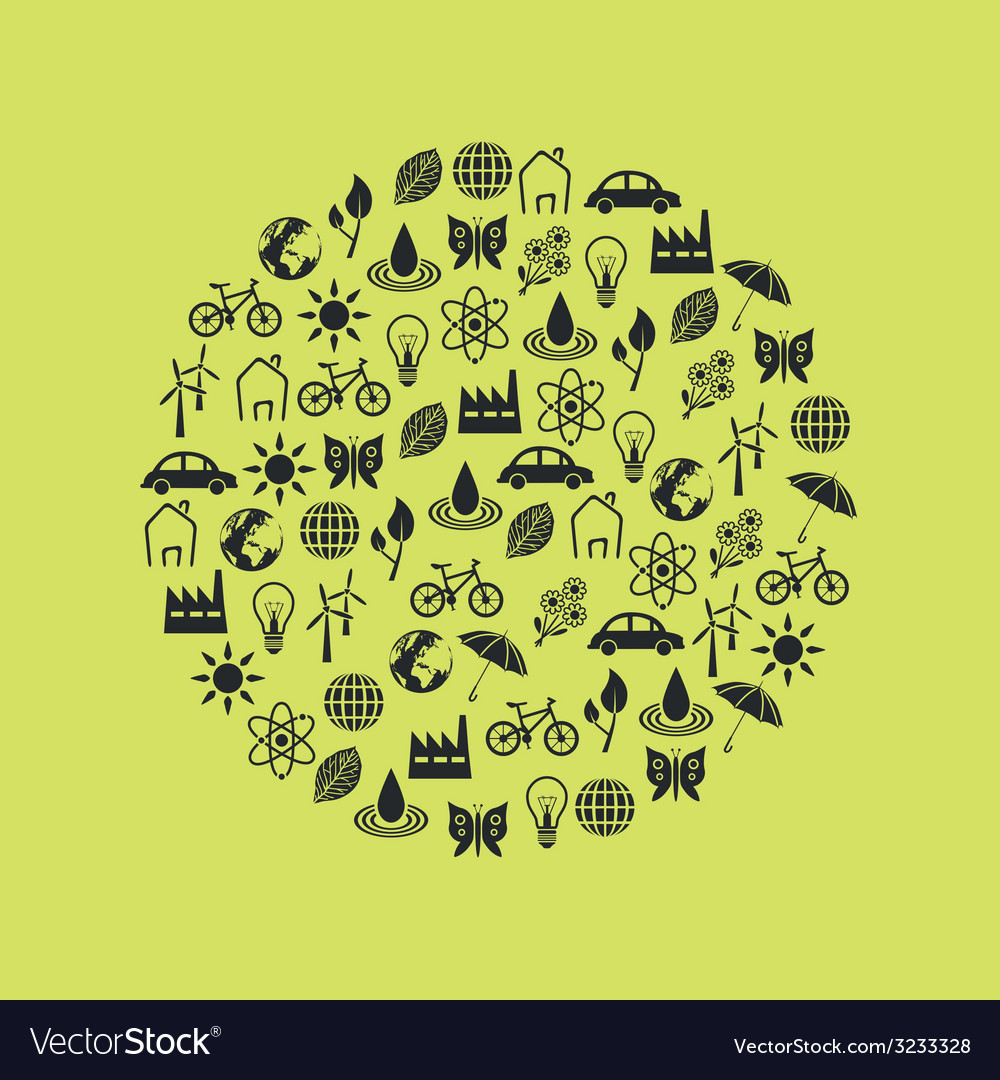Environment icons in circle vector | Price: 1 Credit (USD $1)