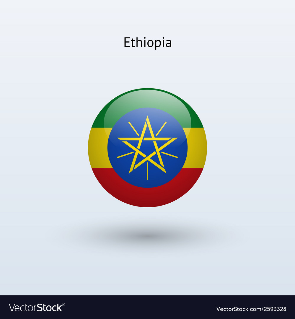 Ethiopia round flag vector | Price: 1 Credit (USD $1)