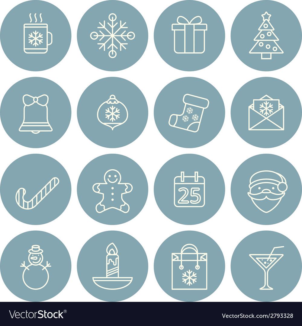 Line christmas icons for web and applications vector | Price: 1 Credit (USD $1)