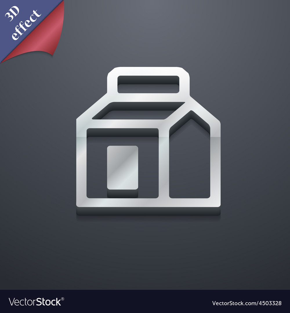 Milk juice beverages carton package icon symbol 3d vector | Price: 1 Credit (USD $1)