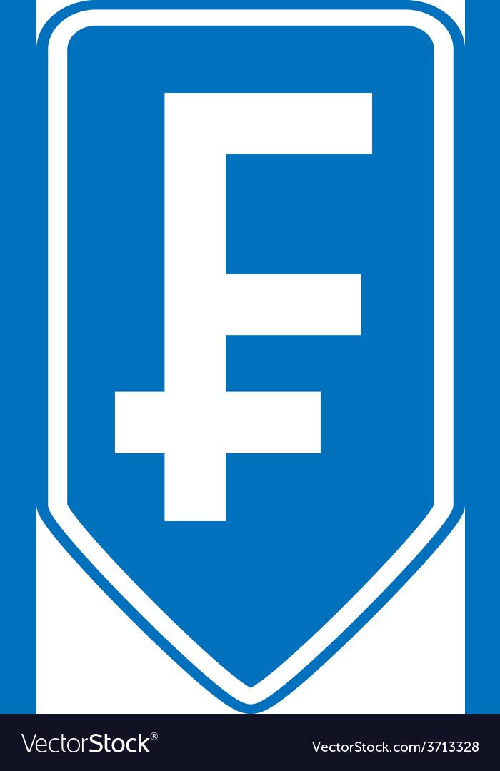 Swiss franc symbol button vector | Price: 1 Credit (USD $1)