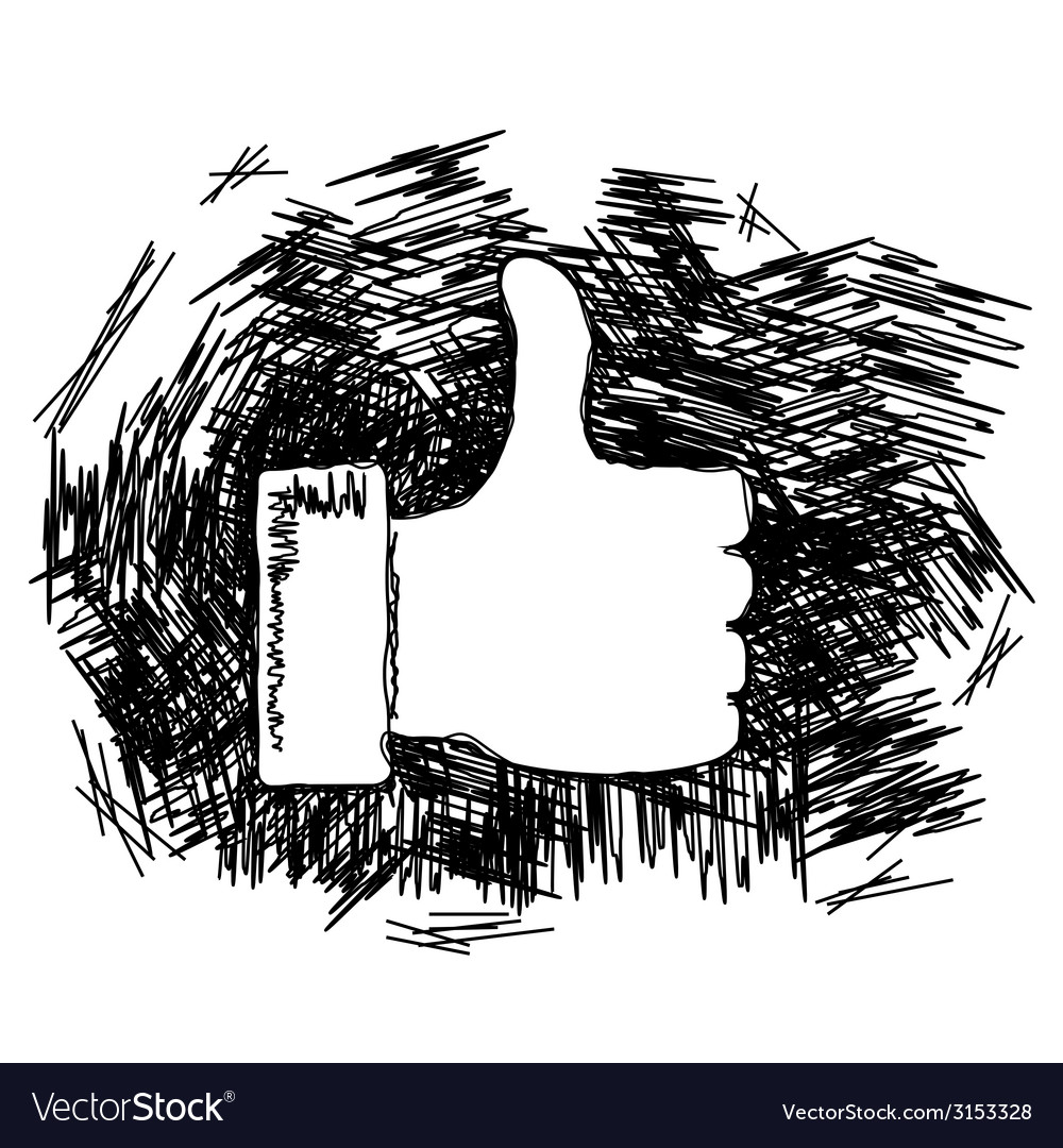 Thumb up doodle vector | Price: 1 Credit (USD $1)