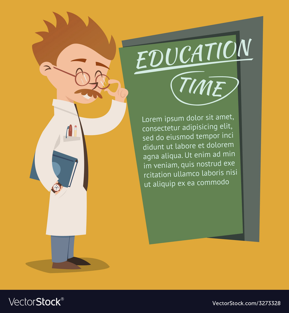 Vintage style education time poster design vector | Price: 1 Credit (USD $1)