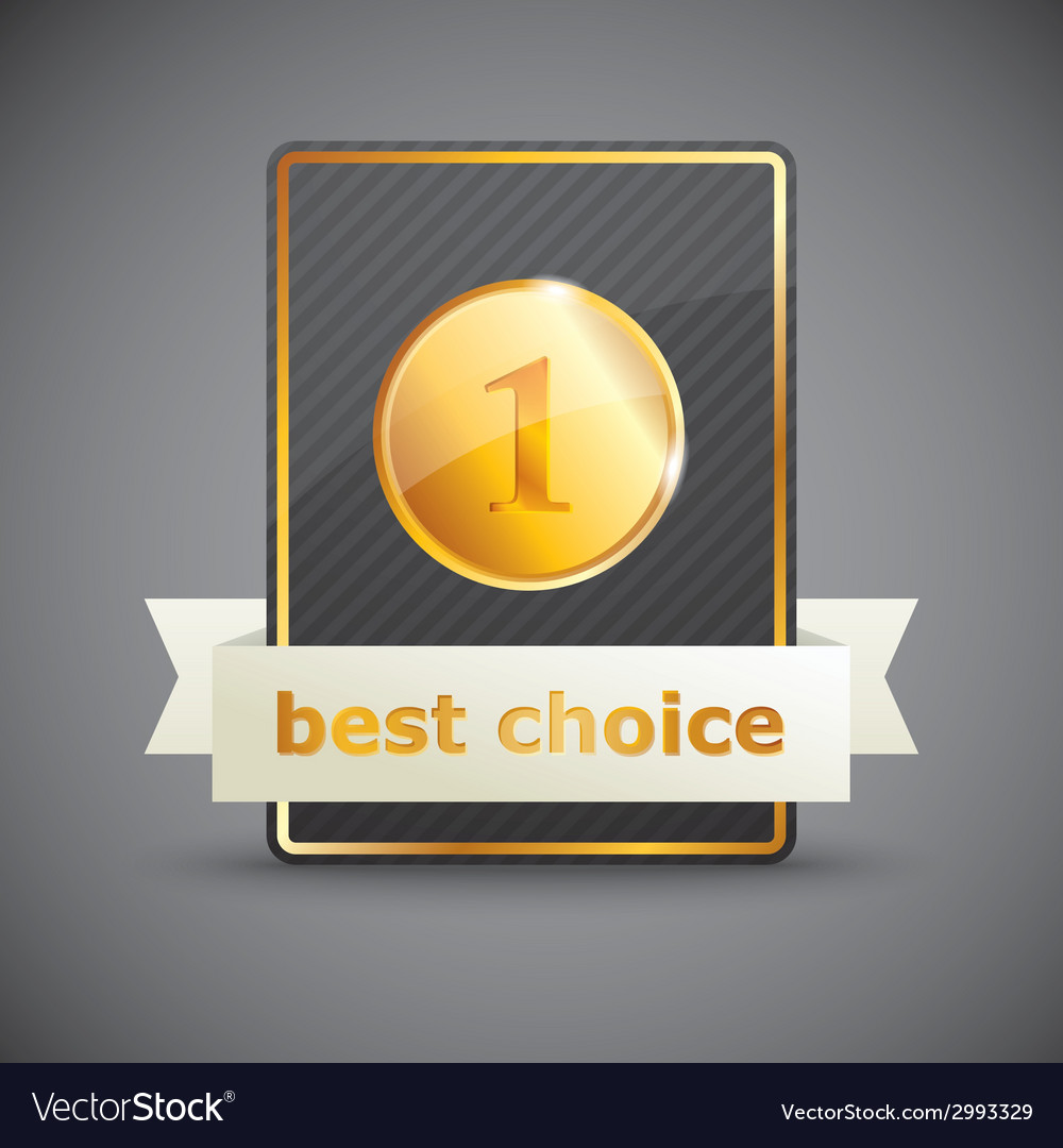 A best choice label vector | Price: 1 Credit (USD $1)