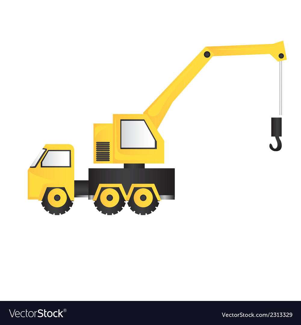 Cartoon of a crane isolated on white background vector | Price: 1 Credit (USD $1)