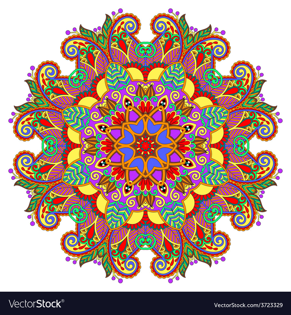 Decorative spiritual indian symbol of lotus flower vector | Price: 1 Credit (USD $1)