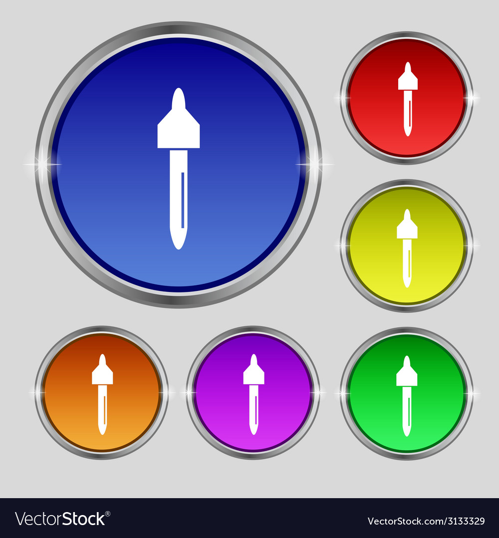 Dropper sign icon pipette symbol set of colored vector | Price: 1 Credit (USD $1)