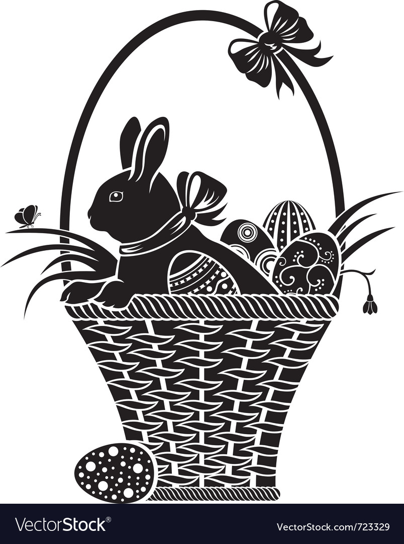 Easter woodcut vector | Price: 1 Credit (USD $1)