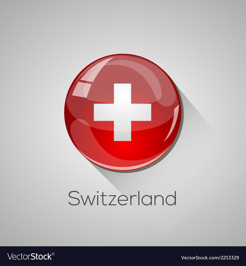 European flags set - switzerland vector | Price: 1 Credit (USD $1)