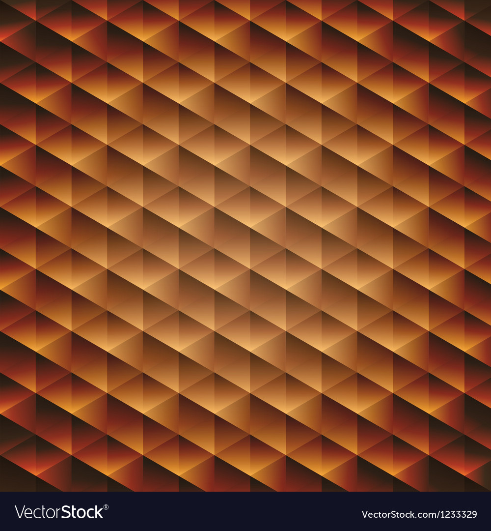 Gold gradient geometric cubic background vector | Price: 1 Credit (USD $1)