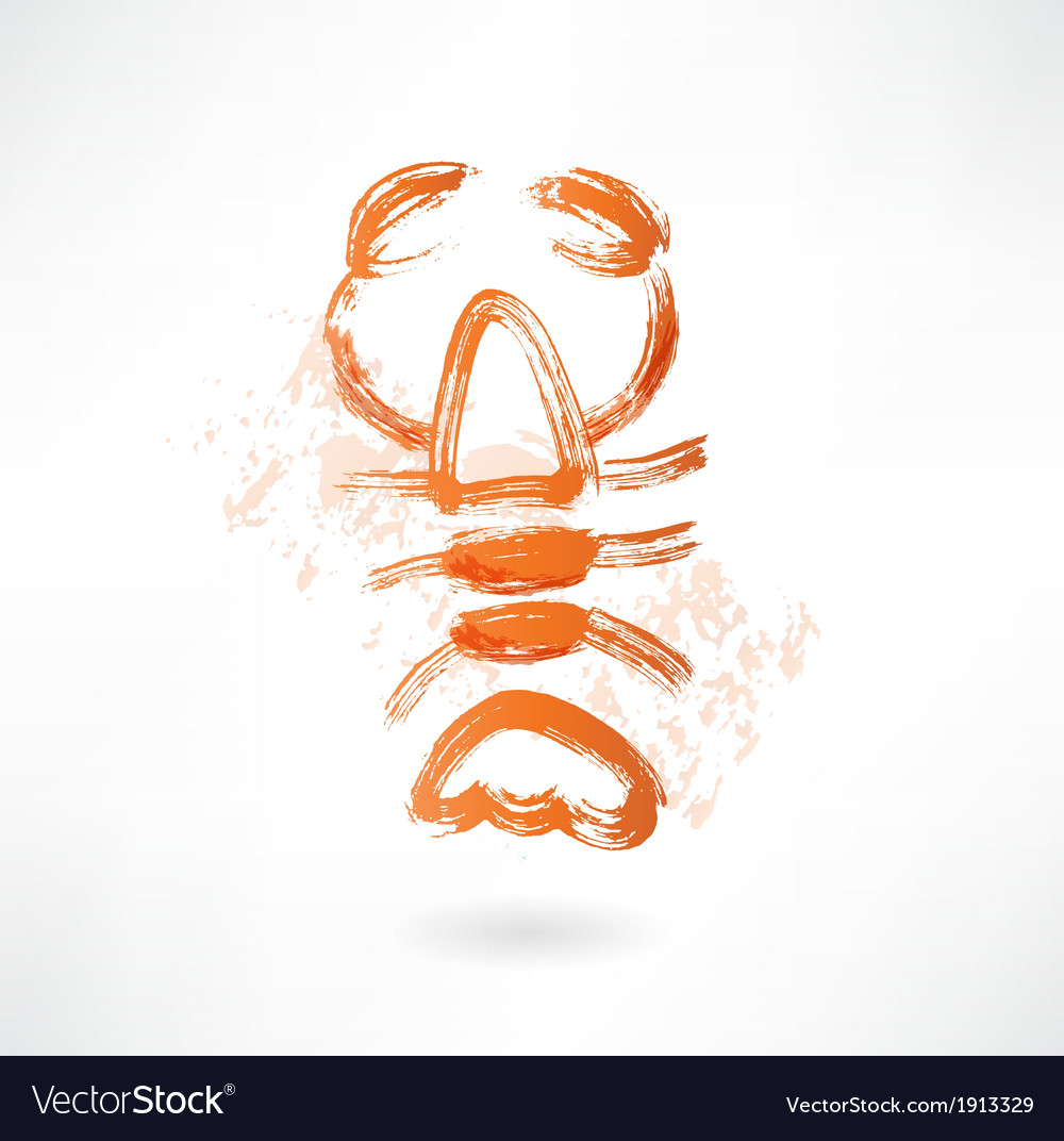 Lobster grunge icon vector | Price: 1 Credit (USD $1)