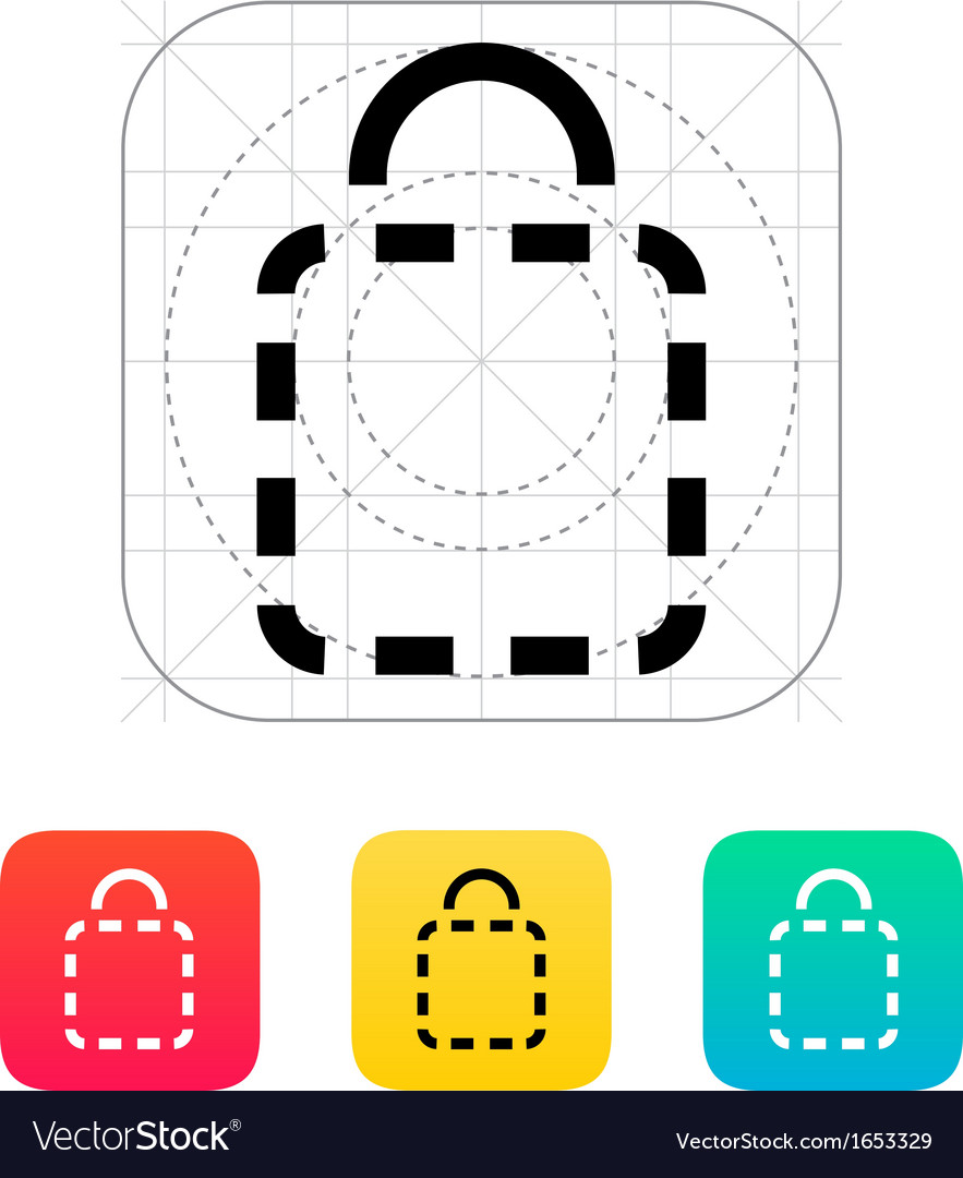 Shopping bag absent icon vector | Price: 1 Credit (USD $1)