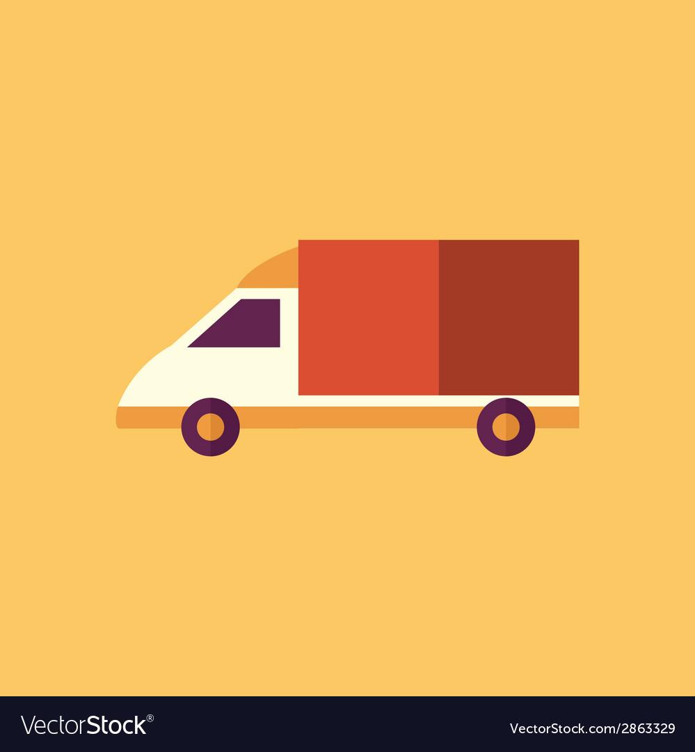 Van transportation flat icon vector | Price: 1 Credit (USD $1)