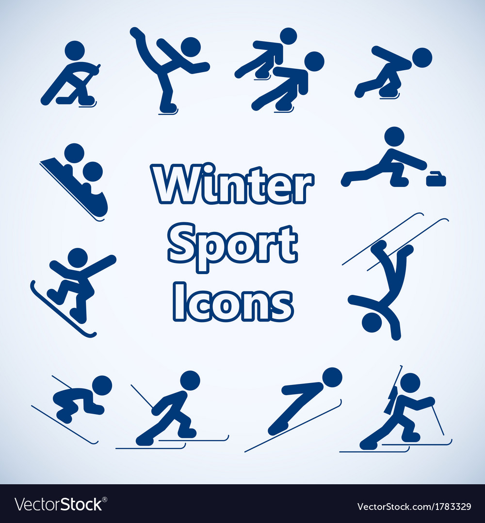 Winter sports icons set vector | Price: 1 Credit (USD $1)