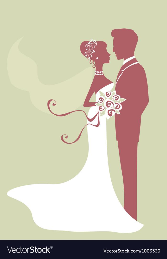 Beautiful bride and groom vector | Price: 1 Credit (USD $1)