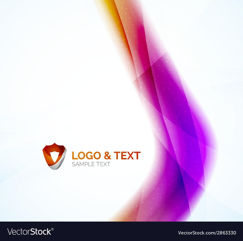 Business wave purple and orange vector | Price: 1 Credit (USD $1)