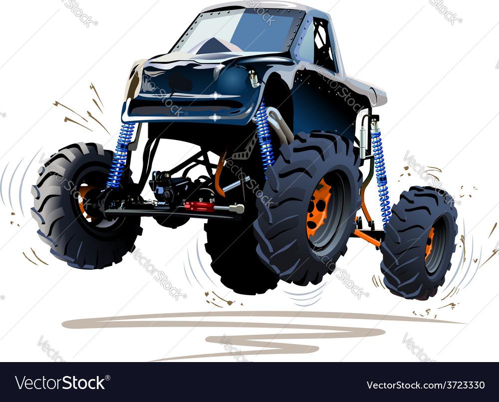 Cartoon monster truck vector | Price: 3 Credit (USD $3)
