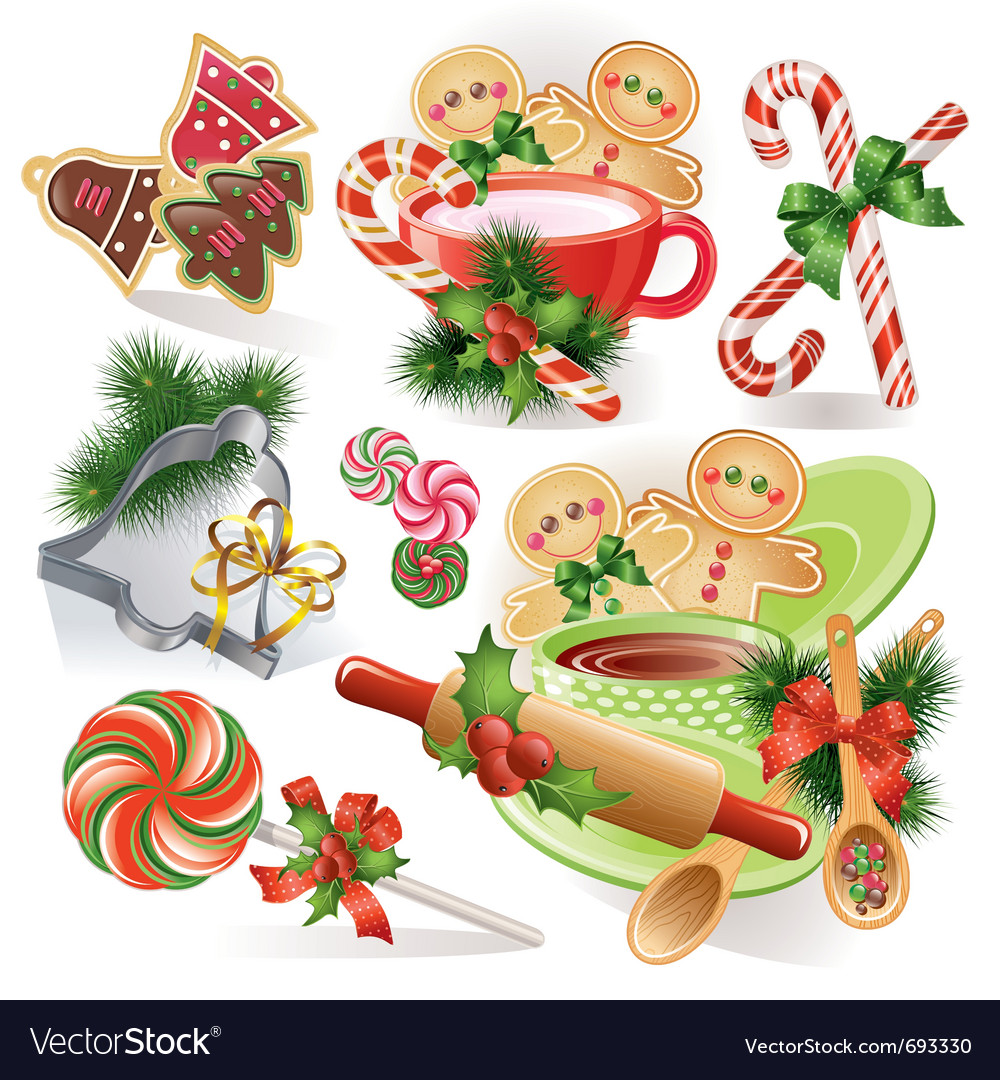 Christmas cookies and sweets vector | Price: 1 Credit (USD $1)