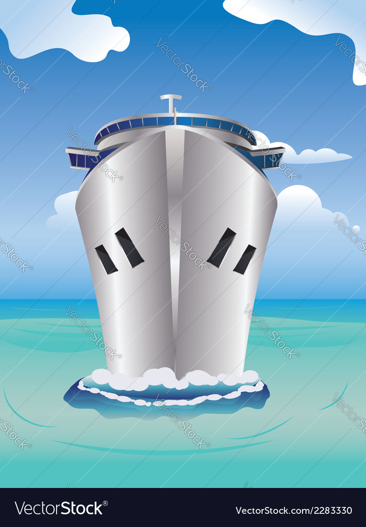 Cruise liner in the sea vector | Price: 1 Credit (USD $1)