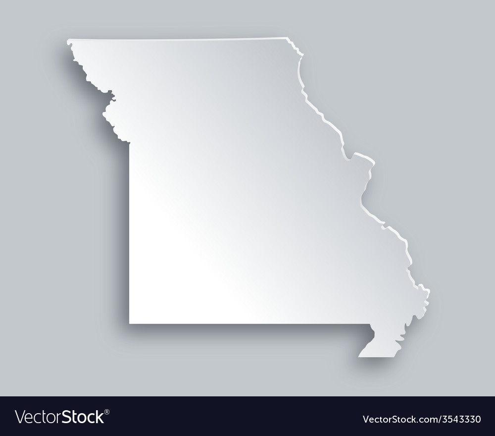 Map of missouri vector | Price: 1 Credit (USD $1)
