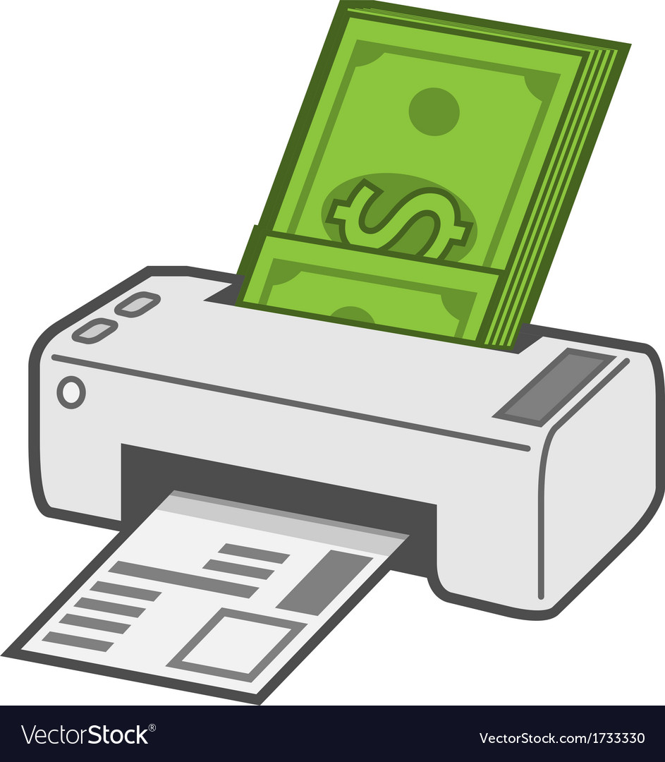 Printing costs vector | Price: 1 Credit (USD $1)