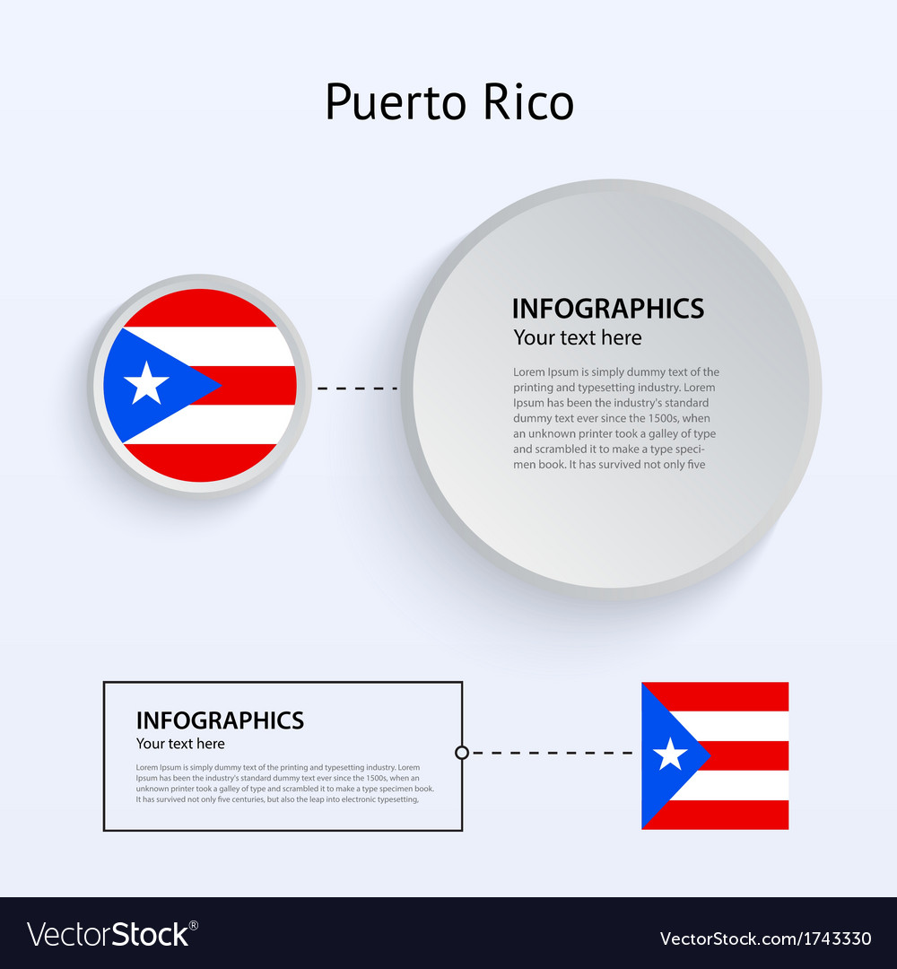 Puerto rico country set of banners vector | Price: 1 Credit (USD $1)
