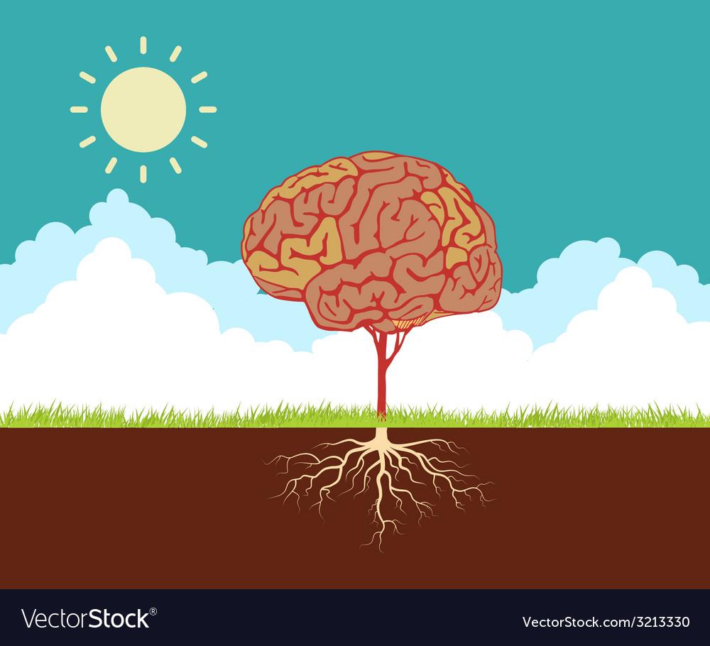 Tree brain vector | Price: 1 Credit (USD $1)