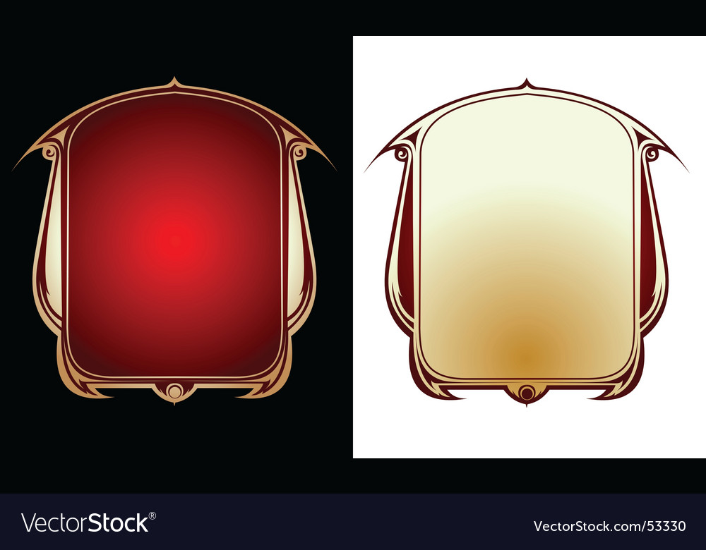 Two red gold frames vector | Price: 1 Credit (USD $1)