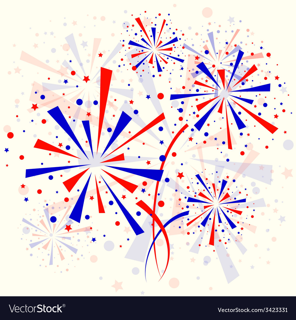 Background with fireworks vector | Price: 1 Credit (USD $1)