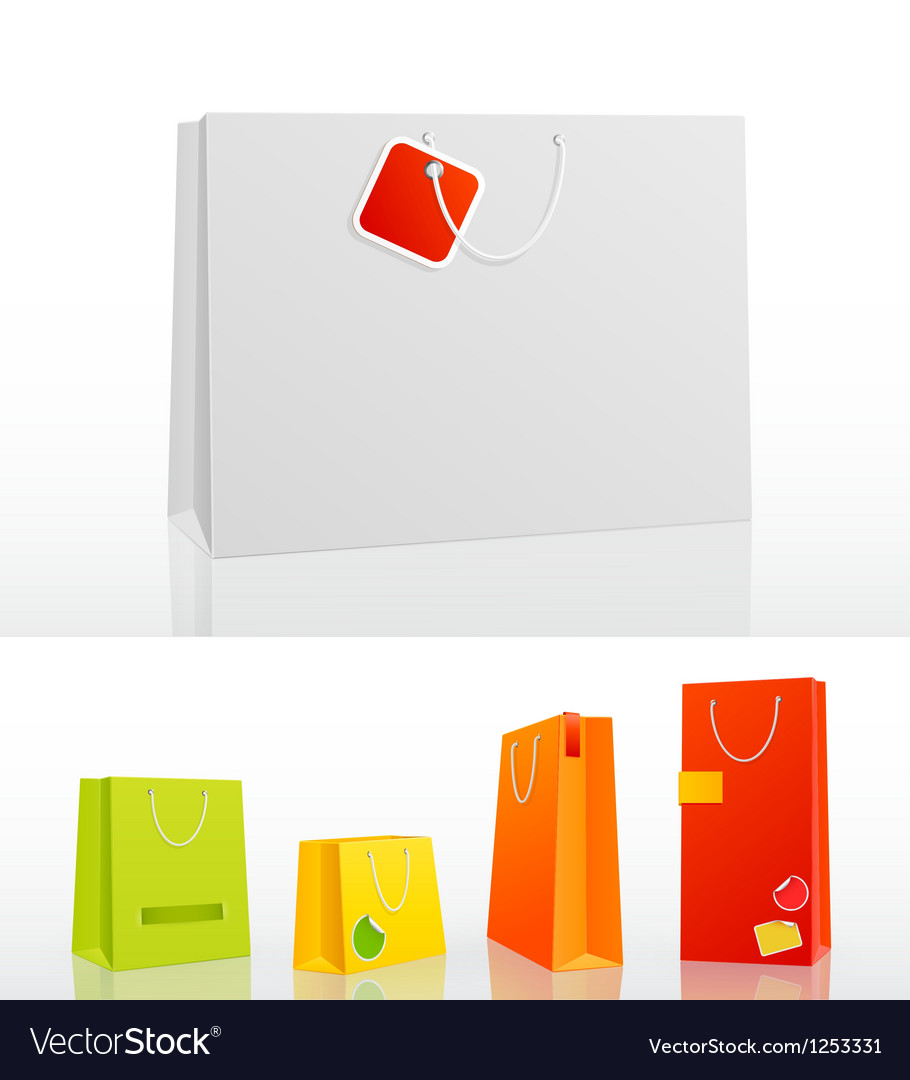 Bag 5 sizes vector | Price: 1 Credit (USD $1)