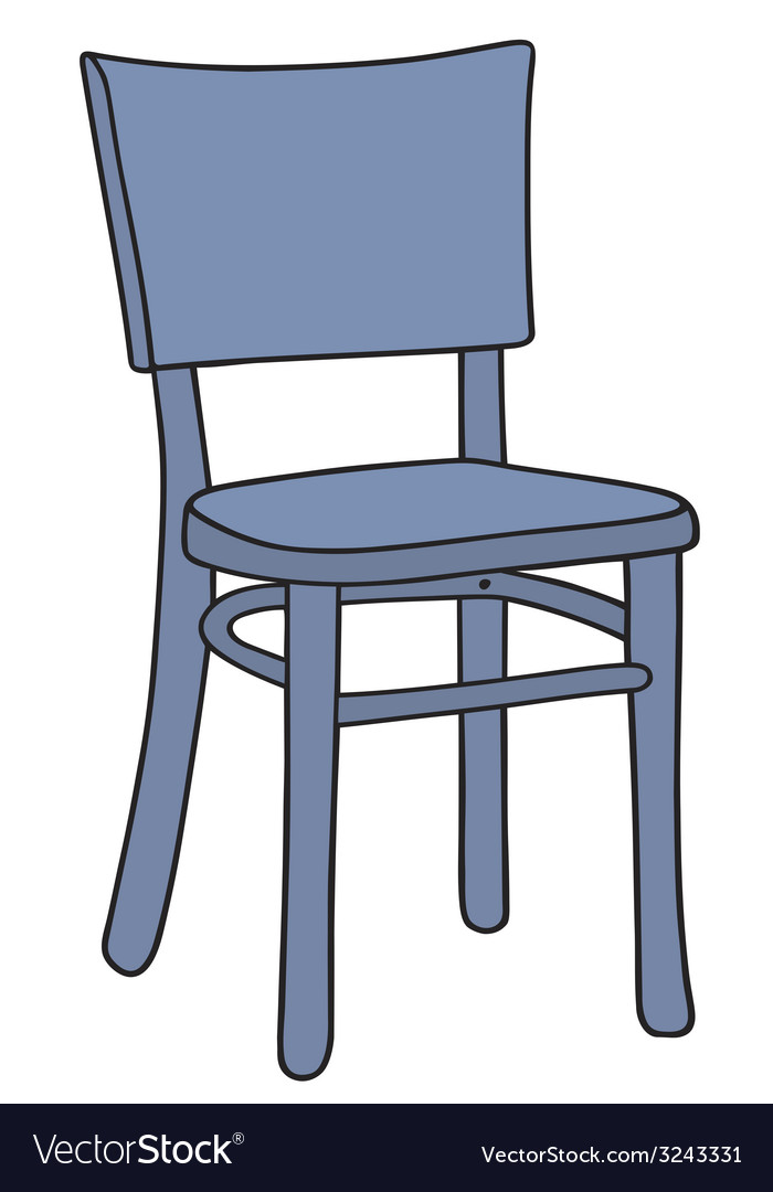 Blue chair vector | Price: 1 Credit (USD $1)