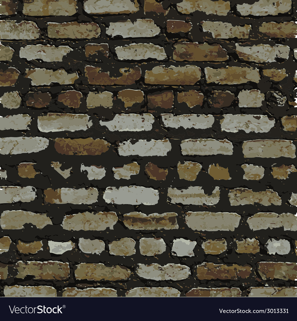 Brick wall brown relief texture with shadow vector | Price: 1 Credit (USD $1)